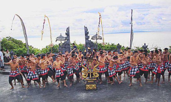 Балийцы танцуют Кичак (Илюстрация к эпосу Рамаяна)