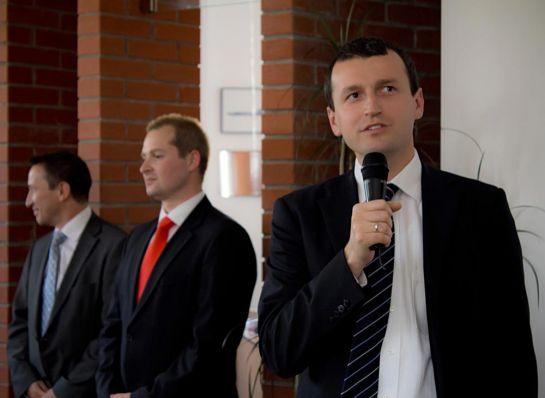 Представители руководства «Чешских авиалиний» – Даниэл Шур, Лукаш Дворжак и Марек Павлица
