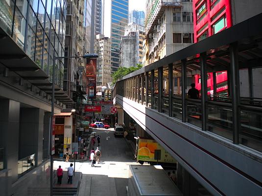 эксалатор в Гонконге