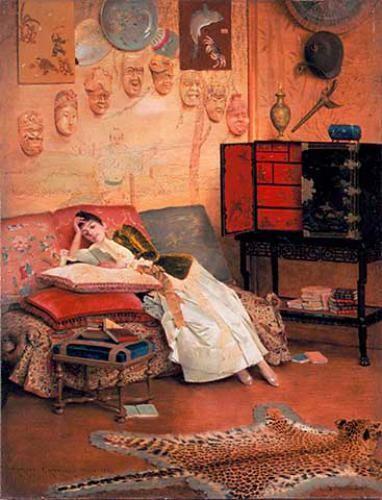 читающая дама