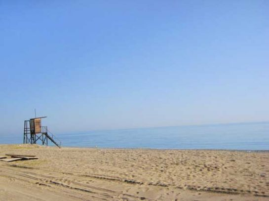 Пляжи Пиерии песчано-галечные. Большинство из них отмечено голубыми флагами ЕС_1