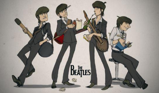 The_Beatles_Cartoon_by_apenasds