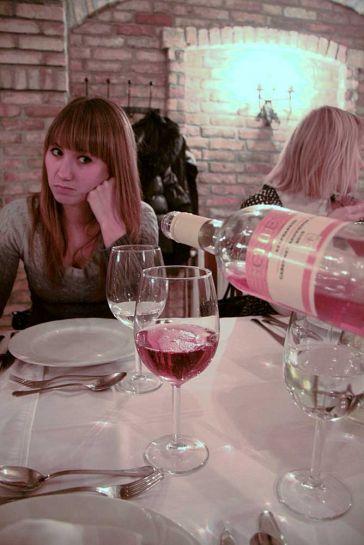 Ужин в ресторане Schieszl, Анна Баширова