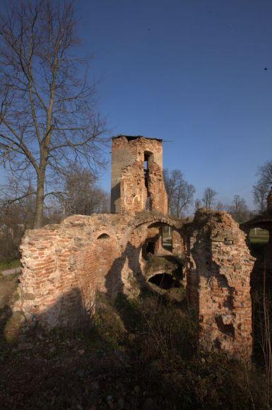 Остатки стен замка в Гольшанах