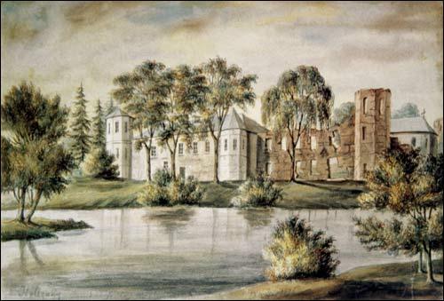 Гальшанский замок. Акварель