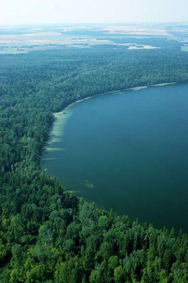 Так озеро Свитязь выглядит с высоты птичьего полета