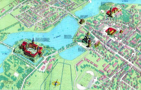 мапа Нясвіжу